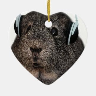 Guinea Pig Music Pet Christmas Ornament