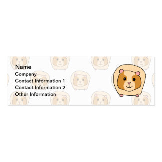 Guinea Pig on a pattern of paler Guinea Pigs Business Card Templates