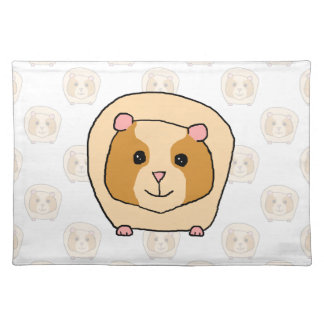 Guinea Pig on a pattern of paler Guinea Pigs. Placemat