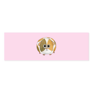 Guinea Pig on Pink. Pack Of Skinny Business Cards