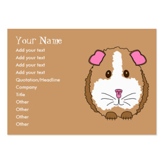 Guinea Pig Pack Of Chubby Business Cards