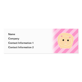 Guinea Pig. Pack Of Skinny Business Cards