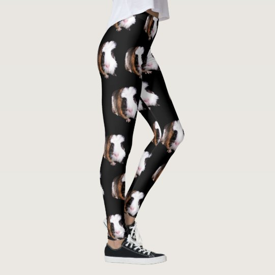 Guinea Pig Pattern, Ladies Full Print Leggings