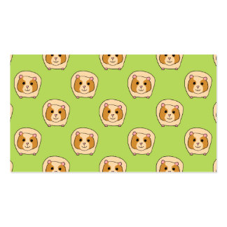 Guinea Pig Pattern on Green Business Cards