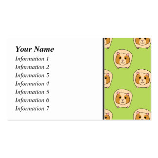 Guinea Pig Pattern, on Green. Business Card Templates