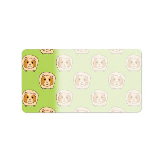 Guinea Pig Pattern, on Green. Label