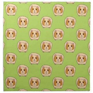 Guinea Pig Pattern, on Green. Napkin