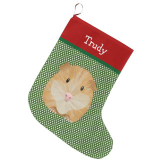 Guinea Pig Pet Personalized Large Christmas Stocking