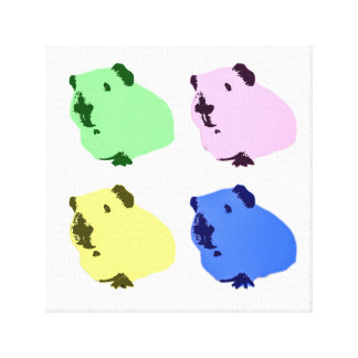Guinea pig pop art canvas