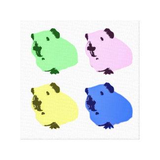 Guinea pig pop art canvas canvas print