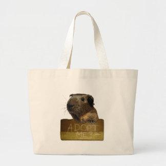 Guinea Pig Rescue Adoption Large Tote Bag
