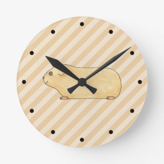 Guinea Pig. Round Clock