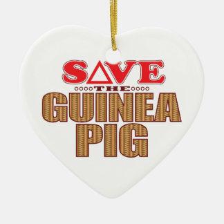 Guinea Pig Save Christmas Ornament
