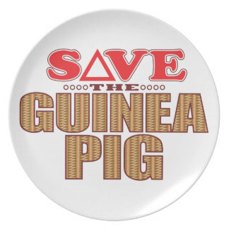 Guinea Pig Save Party Plates