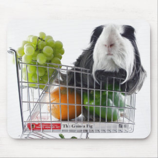 Guinea pig shopping spree mouse mat