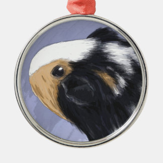 Guinea pig Silver-Colored round decoration