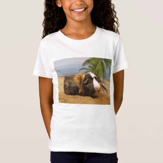Guinea Pig Under Palm Tree Tee Shirt