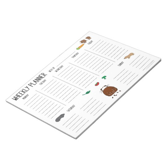Guinea Pig Wheekly (Weekly) Planner To Do List