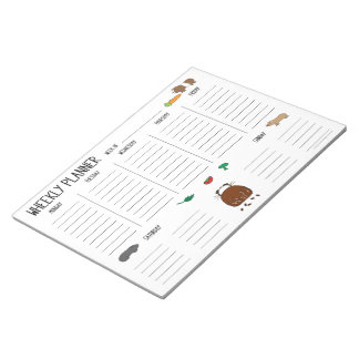 Guinea Pig Wheekly (Weekly) Planner To Do List Notepads