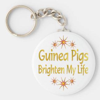 Guinea Pigs Brighten My Life Keychain