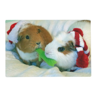 guinea pigs Christmas Placemat Laminated Placemat