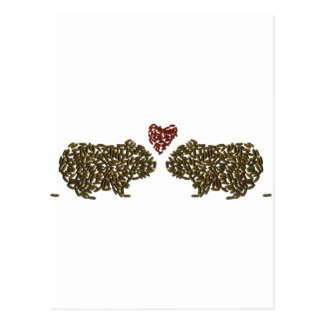 Guinea Pigs in Love Postcard