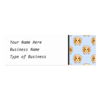 Guinea Pigs on Blue. Pack Of Skinny Business Cards
