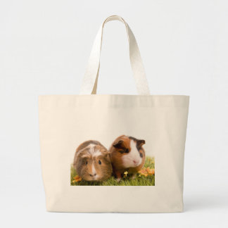 guinea pigs one has lawn large tote bag