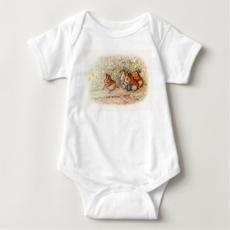 Guinea Pigs Planting in the Garden Baby Bodysuit