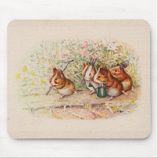 Guinea Pigs Planting in the Garden Mouse Mat