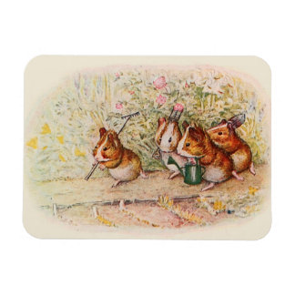 Guinea Pigs Planting in the Garden Rectangular Photo Magnet