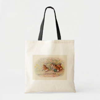 Guinea Pigs Planting in the Garden Tote Bag