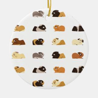 Guinea pigs round ceramic decoration