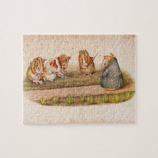Guinea pigs tending garden jigsaw puzzle