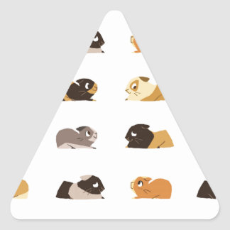 Guinea pigs triangle sticker