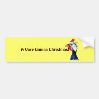 Guinea Santa Claus Bumper Sticker
