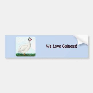 Guinea White Bumper Sticker