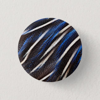 Guineafowl Feather Abstract 3 Cm Round Badge