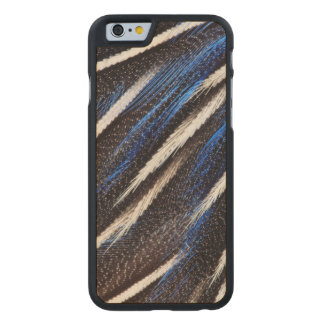 Guineafowl Feather Abstract Carved Maple iPhone 6 Case