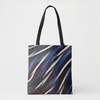 Guineafowl Feather Abstract Tote Bag