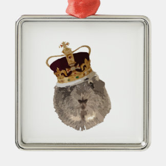 Guineapig in a crown christmas ornament