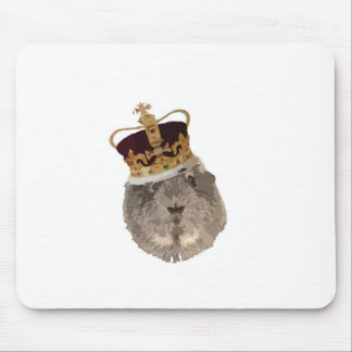 Guineapig in a crown mouse pad