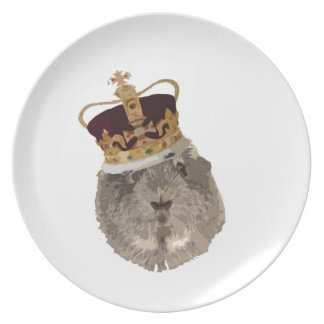 Guineapig in a crown plate