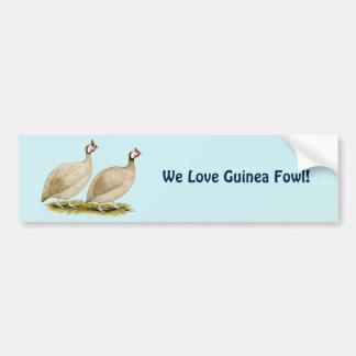 Guineas Buff Dundotte Fowl Bumper Sticker