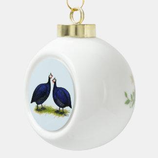 Guineas Royal Purple Pair Ceramic Ball Christmas Ornament