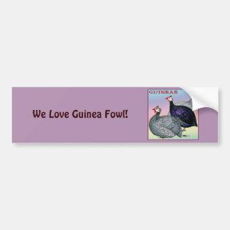 Guineas Three Fowl Bumper Sticker