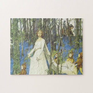 Guinevere and Sir Lancelot Romantic Love Jigsaw Puzzle