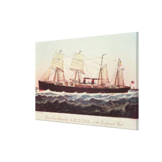 Guion Line Steamship Arizona Canvas Print