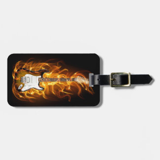 Guitair Flames Tag For Luggage