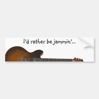guitar02 car bumper sticker